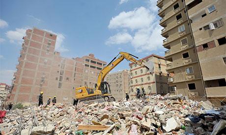 Collapsed Gesr El-Suez building
