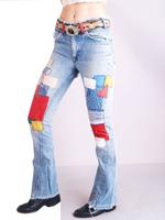 Seventies patchwork jeans