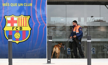 The offices of Barcelona Football Club