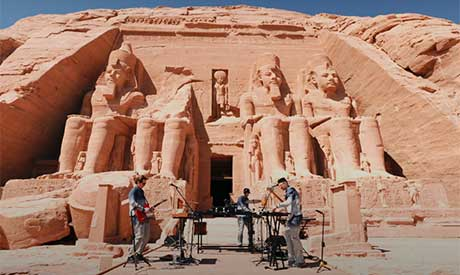 WhoMadeWho performance at Abu Simbel