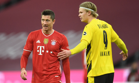 Erling Haaland and Robert Lewandowski