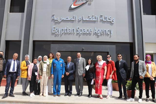 Mikhail Kornienko visits the Egyptian Space Agency in New Cairo (Photo credit of the Russian Cultura
