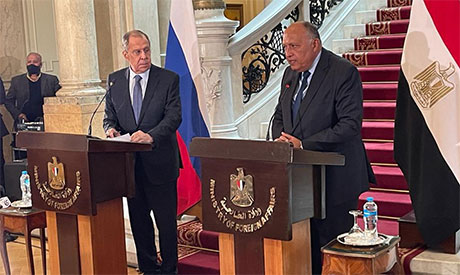 Sameh Shoukry and Sergey Lavrov