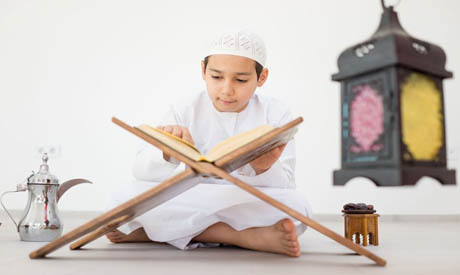 A child reciting the Quran