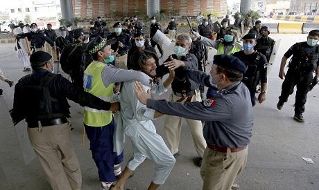Pakistan clashes . AP