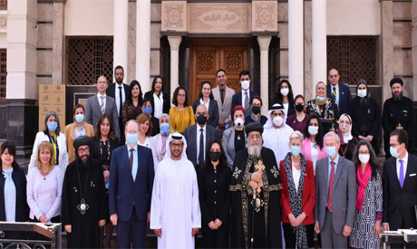 Pope Tawadros II  and the participants