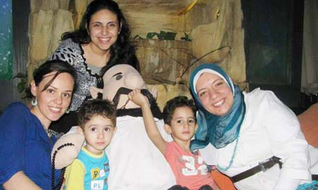 Nada celebrating Ramadan with her Muslim friends