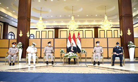 Sisi and army commanders