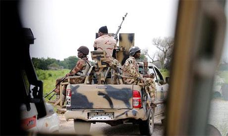 Nigerian army convoy