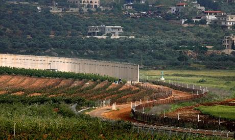 Border wall between Israel and Lebanon