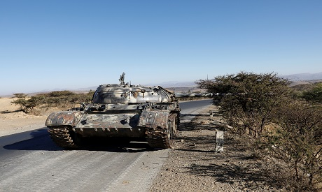Eritrean damaged tank in Tigray, Ethiopia