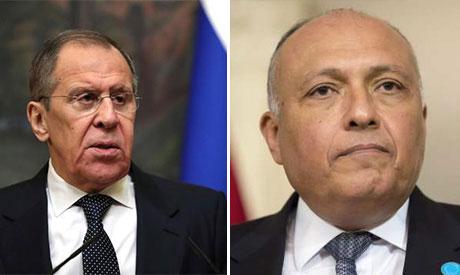 Sergey Lavrov and  Sameh Shoukry