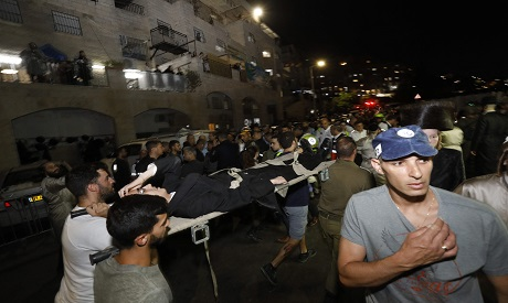 A bleacher collapse at Israeli synagogue. AFP