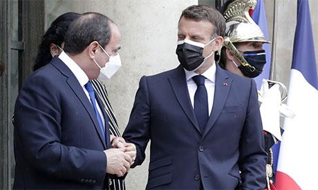 President  Abdel Fattah el-Sissi and President  Emmanuel Macron