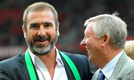 Eric Cantona and Alex Ferguson