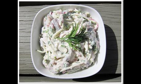 Pickled herring (renga) salad