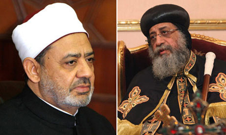 Mohamed el-Tayeb and Pope Tawadros II