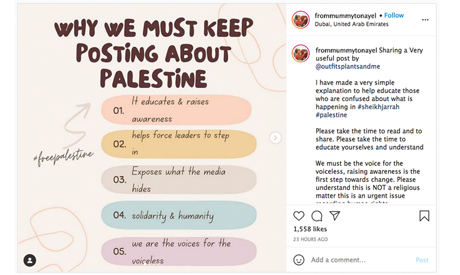 The Gaza conflict on social media