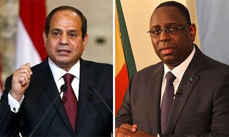 President Abdel Fattah El-Sisi and Macky Sall