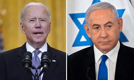 Joe Biden and Benajmin Netanyahu