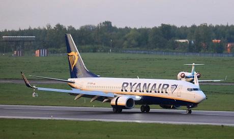 Ryanair passenger plane . Photo AFP