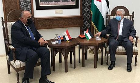 Sameh Shoukry and Mahmoud Abbas