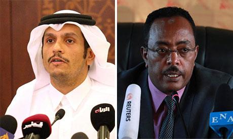Mohammed bin Abdulrahman Al-Thani and Redwan Hussein