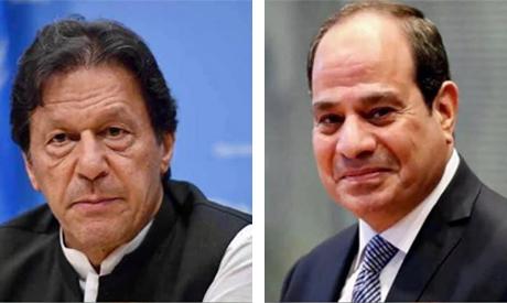 Pakistani Prime Minister Imran Khan and President AbdelFattah ElSisi