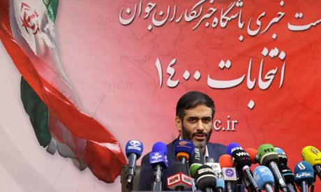 Iranian presidential hopeful Saeed Mohammad gives a press conference in the capital Tehran. AFP
