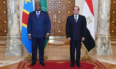 Egyptian President Abdel-Fattah El-Sisi and Congolese President Félix Antoine Tshisekedi (Photo cour