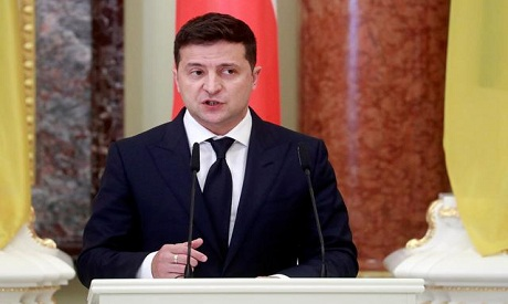 The Ukrainian Leader Volodymyr Zelensky
