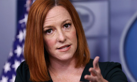 White House Press Secretary Jen Psaki holds the daily press briefing at the White House in Washingto