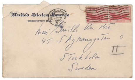Envelope that John F. Kennedy