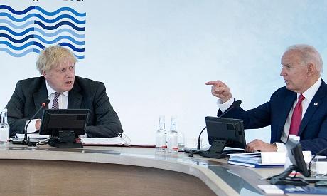 Biden & Johnson G7. AFP