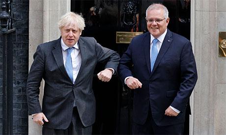 Boris Johnson & Scott Morrison