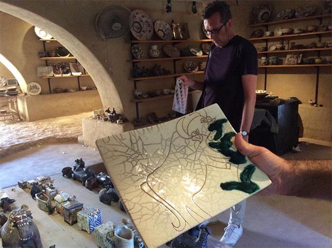 inside the pottery school of Evelyne. (Photo Zeina Spinelli)