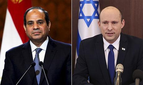 President Abdel Fattah El-Sisi& Naftali Bennett