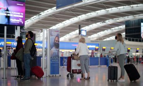 Departures area at Heathrow Airport