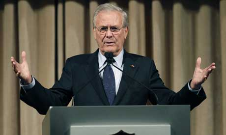 Donald Rumsfeld, former US defence secretary and architect of the 2003 invasion of Iraq. File Photo