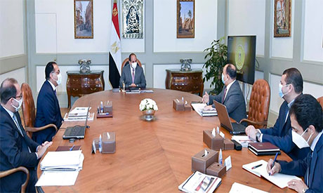 President Abdel Fattah El Sisi during the meeting
