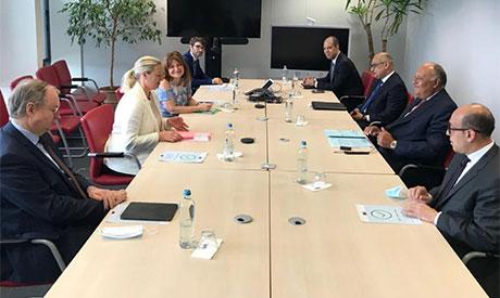 Sameh Shoukry & EU foreign ministers