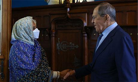 Sergei Lavrov & Maryam Al-Sadiq Al-Mahdi