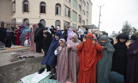 Muslims gather for prayers in Kenya