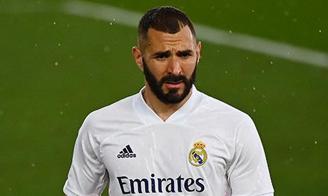 File photo taken on April 3, 2021 Real Madrid