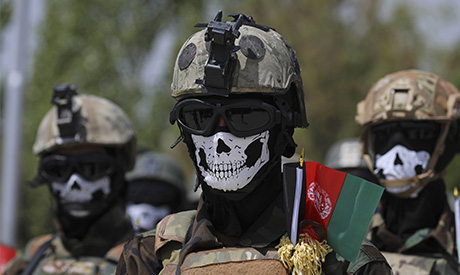 File photo, new Afghan Army Special Forces attend their graduation ceremony after a three-month trai