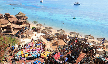 """A general view of development of """"Farsha"""" mountain lounge areas in the Red Sea resort of Sharm el-Sh"""