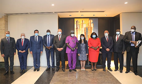 Egyptian officials & South Sudan delegation