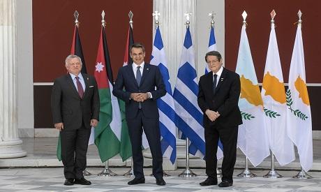 Greece Cyprus Jordan Summit . AP Photo