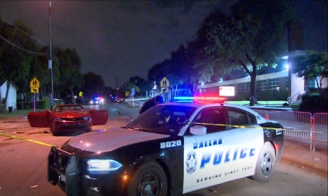 The scene of the shooting in Dallas