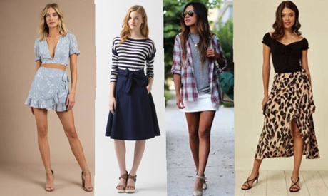 Trends in summer skirts